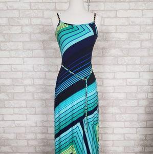 Cache Vibrant Geometric Maxi Dress - New - Size XS